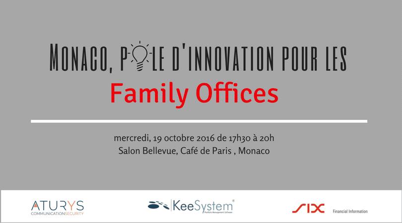 """Monaco, pôle d'innovation pour les family offices"""", un événement dédié aux family offices le 19 octobre à Monaco"""