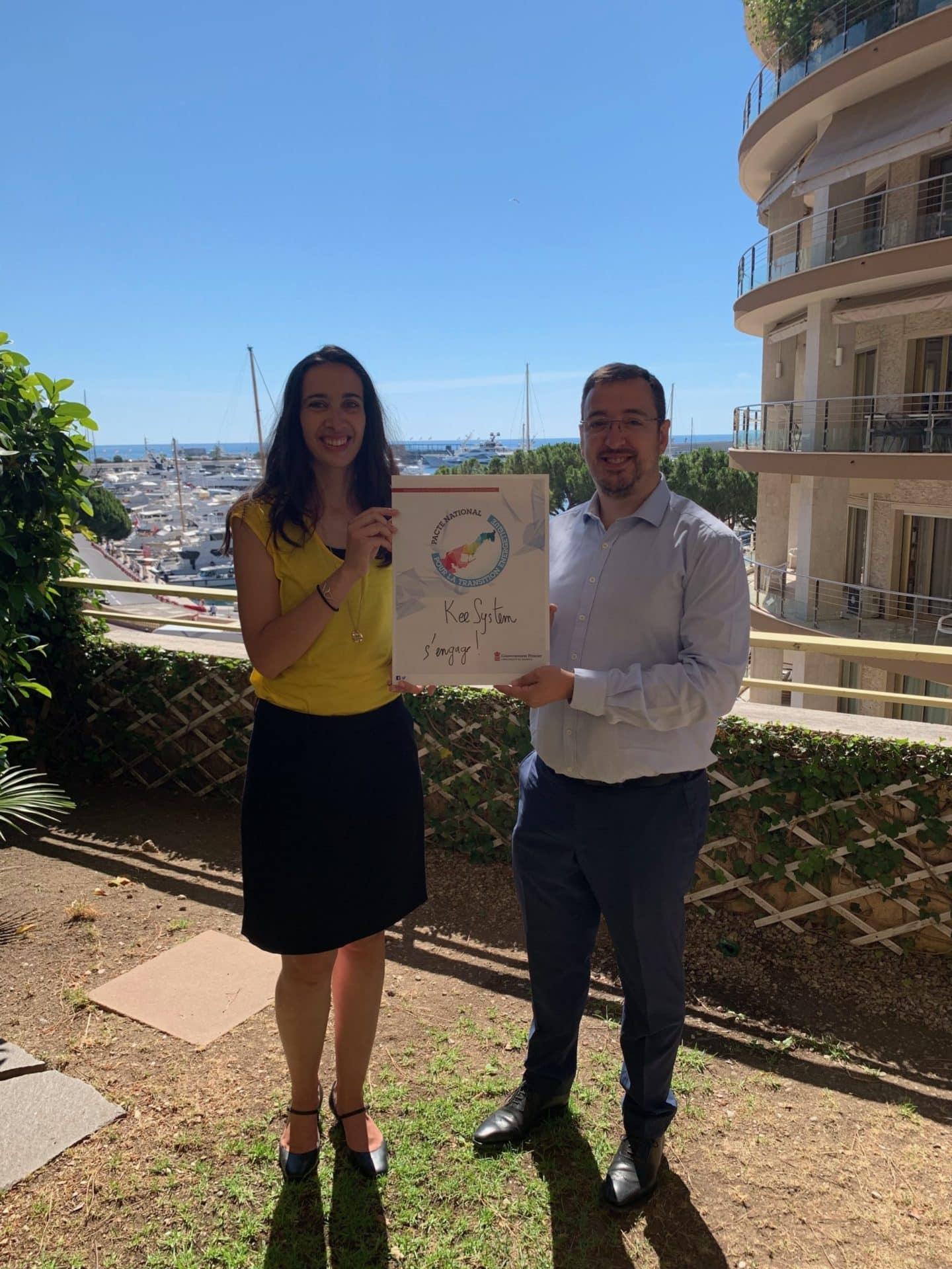 Pierre-Alexandre Rousselot, CEO de Keesystem, engage son entreprise avec la Mission pour la Transition Énergétique à Monaco